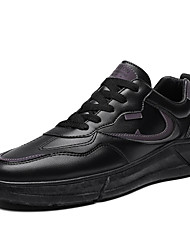cheap -Men's Comfort Shoes PU Spring / Fall Casual / Preppy Athletic Shoes Running Shoes Breathable Black / White