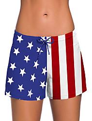 cheap -Women's Plus Size Sporty Basic Black White Blue High Waist Bikini Bottoms Swimwear Swimsuit - Solid Colored S M L Black