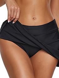 abordables -Femme Sportif Basique Noir Bleu Ciel Bleu Roi Taille haute Bas de bikini Maillots de Bain - Couleur Pleine S M L Noir
