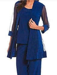 cheap -3/4 Length Sleeve Chiffon Wedding Women's Wrap With Lace / Ruching Coats / Jackets