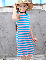 cheap -Kids Girls' Striped Dress White