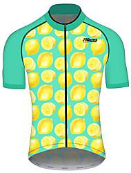 Недорогие -21Grams Жен. С короткими рукавами Велокофты Зеленый  / желтый Фрукты Лимонный Велоспорт Джерси Верхняя часть Горные велосипеды Шоссейные велосипеды Устойчивость к УФ Дышащий Быстровысыхающий