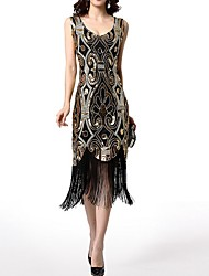 cheap -Latin Dance 1920s / The Great Gatsby / Flapper Costume Women's Performance Polyester Tassel / Paillette Dress