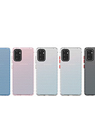 cheap -Case for Samsung Galaxy S20 S20 Plus S20 Ultra Beehive Series Through color Cooling Airbag Anti-fall TPU material PC plating button All-inclusive mobile phone case