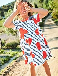cheap -Kids Girls' Geometric Dress Red