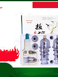 cheap -18P Gas tank vacuum cupping device / household suction cupping cup / glass beauty salon special cupping / dehumidification genuine set