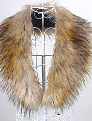 cheap -Sleeveless Collars Faux Fur Party Evening / Casual Fur Wraps / Fur Accessories / Faux Leather With Smooth / Fur