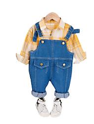 cheap -Baby Boys' Casual Houndstooth Long Sleeve Long Regular Clothing Set Black