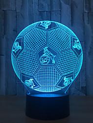 abordables -fond noir / modèles d'explosion de maison transfrontalière led football / lumières 3D / nouveauté cadeaux créatifs / lampe de bureau tactile capteur intelligent / veilleuse