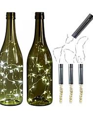 Недорогие -3 шт. Батарея гирлянды серебряные светодиодные винные фонари с питанием от батареи пробковая форма стеклянная бутылка пробка лампы рождественские гирлянды декор