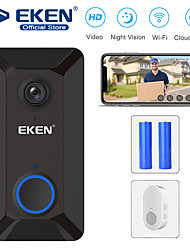 cheap -EKEN V6 Smart WiFi Video Doorbell with 1*Chime and 2*18650 Battery