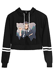 cheap -Inspired by Cosplay Billie Eilish Cosplay Costume Hoodie Cotton Fibre Print Printing Hoodie For Men's / Women's