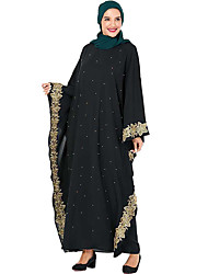 cheap -Adults' Women's Abaya Dress For Party Beaded Polyster Pearl Embroidered Halloween Carnival Masquerade Dress