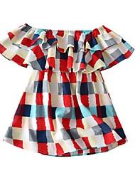 Недорогие -Дети (1-4 лет) Девочки Пэчворк Платье Цвет радуги