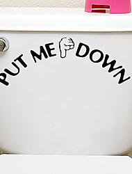 Недорогие -стикеры туалета жеста руки - стикеры переключателя света персонажи / формы ванная комната / крытый