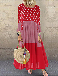 cheap -Women's Elegant Maxi Sheath Dress - Geometric Black Yellow Red S M L XL