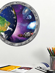 cheap -Space Planet Wall Sticker Cartoon Earth Kids Room Bedroom Nursery Mural Decals PVC Removable Decorative Post / Toilet Seat Wall Sticker Art Bathroom Decals Decor