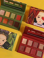 abordables -8 couleurs Fards à Paupières Mat Maquillage Le fard à paupières Visage Facile à transporter Homme Meilleure qualité Pro Ultra léger (UL) Girlfriend cadeaux Sécurité Pratique Maquillage Quotidien