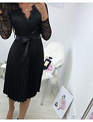 cheap -Women's Sheath Dress - Solid Color Black S M L XL