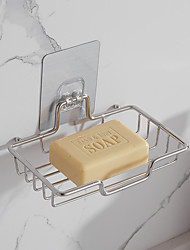cheap -Strong Viscosity Adhesive Soap Basket Rack Soap Dishes & Holders Bathroom Accessories Without Drilling Rustproof Self-adhesive 304# Stainless Steel PV09