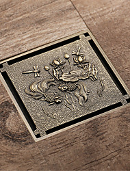 cheap -Drain New Design Contemporary Brass Bathroom Floor Mounted
