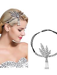 cheap -The Great Gatsby Charleston 1920s Vintage Inspired The Great Gatsby Headpiece Flapper Headband Women's Tassel Costume Head Jewelry Black / Golden / White Vintage Cosplay / Headwear / Headwear