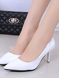 cheap -Women's Heels Stiletto Heel Pointed Toe PU Winter Black / White / Pink