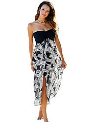 cheap -Women's Elegant Sheath Dress - Color Block White Green S M L XL