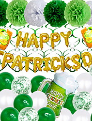 cheap -New Irish Holiday St Patrick's Day Irish Pub Décor House Lucky Day Décoration Happy Patrick's Day 1SET