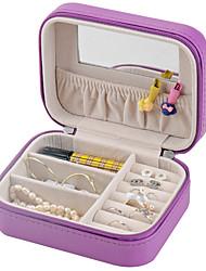 Недорогие -Шкатулка - деревянный, Кожа Белый, Розовый, Светло-фиолетовый 12.5 cm 9.5 cm 5.5 cm / Жен.
