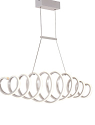 cheap -1-Light feimiao 25 cm LED / New Design / Pendant Light Chandelier Aluminum Silica gel Circle / Sputnik / Island Painted Finishes Modern / Nordic Style 110-120V / 220-240V