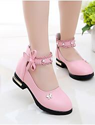 Недорогие -Девочки Удобная обувь Полиуретан Обувь на каблуках Маленькие дети (4-7 лет) Розовый / Бежевый Весна