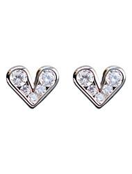 cheap -Women's Earrings Geometrical Sweet Heart Stylish Earrings Jewelry Gold / White For Holiday Daily Wear 2 Piece