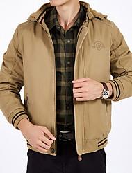 cheap -Men's Solid Colored Vest, Polyester Black / Green / Khaki US32 / UK32 / EU40 / US34 / UK34 / EU42 / US36 / UK36 / EU44