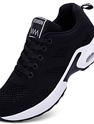cheap -Women's Athletic Shoes Flat Heel Round Toe Mesh Booties / Ankle Boots Running Shoes Winter Black / White / Red