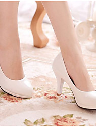 cheap -Women's Wedding Shoes Low Heel Round Toe PU Spring & Summer White