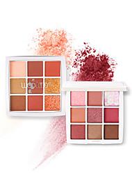 abordables -9 couleurs Fards à Paupières Mat Maquillage Le fard à paupières Visage Facile à transporter Homme Meilleure qualité Pro Ultra léger (UL) Girlfriend cadeaux Sécurité Pratique Maquillage Quotidien