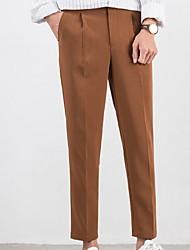 cheap -Men's Basic Chinos Pants - Solid Colored Black Brown Gray US32 / UK32 / EU40 US34 / UK34 / EU42 US36 / UK36 / EU44