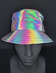 cheap -Running Cap Bucket Hat Men's Women's Hat Fashion Reflective Breathable Sun Protection for Running Fitness Jogging Autumn / Fall Spring Winter Rainbow