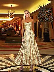 cheap -Women's Sheath Dress - Solid Colored Gold S M L XL