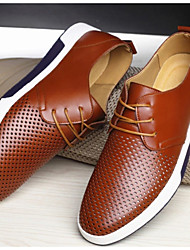 cheap -Men's Oxfords Comfort Shoes Daily Leather Brown Fall & Winter