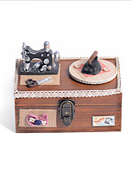 cheap -Music Box Musical Jewellery Box Wooden Music Box Antique Music Box Holiday Retro Creative Unique Wooden Women's All Girls' Kid's Adults Child's 1 pcs Graduation Gifts Toy Gift
