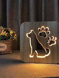 cheap -Foot Shaped Decoration Light Wood Creative USB Powered Home Decoration Staycation Bedroom Living Room 1pc