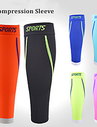 cheap -Leg Sleeves Calf Support for Running Basketball Cycling / Bike Outdoor Professional Muscle support Lycra Spandex 1 Pair Athletic Sport Black Green Blue