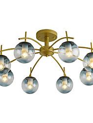 cheap -8-Light 80 cm Flush Mount Lights Metal Glass Industrial Painted Finishes Nordic Style 110-120V 220-240V E26 E27