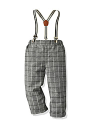 cheap -Kids Toddler Boys' Basic Street chic Houndstooth Overall & Jumpsuit Light gray