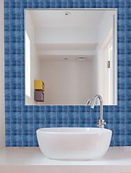 Недорогие -Веселая жизнь 10 * 10 см * 19 шт. модный синий самоклеящийся водонепроницаемый diy wall art home home кухня спальня ванная комната кухня плитка стикер стикер стены