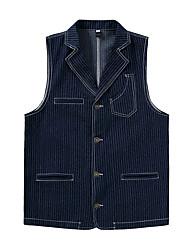 cheap -Men's Vest V Neck Polyester Blue