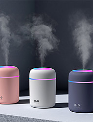 cheap -1pcs Portable 300ml Humidifier USB Ultrasonic Dazzle Cup Aroma Diffuser Cool Mist Maker Air Humidifier Purifier with Romantic Light