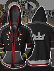 cheap -Kingdom Hearts Billie Eilish Cosplay Costume Hoodie Cotton Fibre Print Hoodie For Men's / Women's